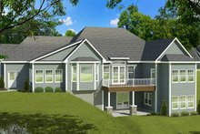 Dream House Plan - Ranch Exterior - Rear Elevation Plan #1010-195