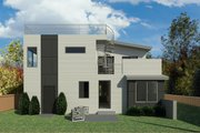Contemporary Style House Plan - 4 Beds 3 Baths 3240 Sq/Ft Plan #1066-120 Exterior - Other Elevation