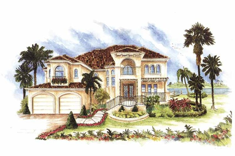 Home Plan - Mediterranean Exterior - Front Elevation Plan #1017-151
