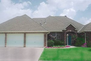 Ranch Exterior - Front Elevation Plan #52-135