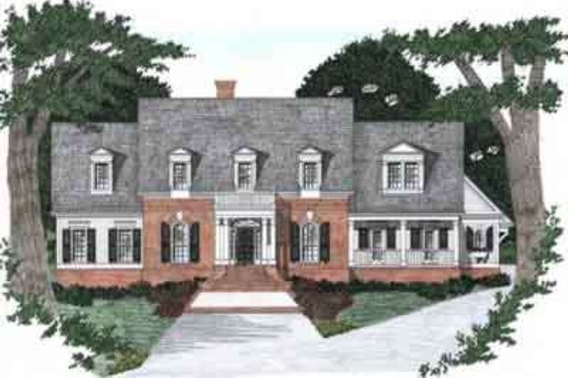 Colonial Exterior - Front Elevation Plan #129-163 - Houseplans.com