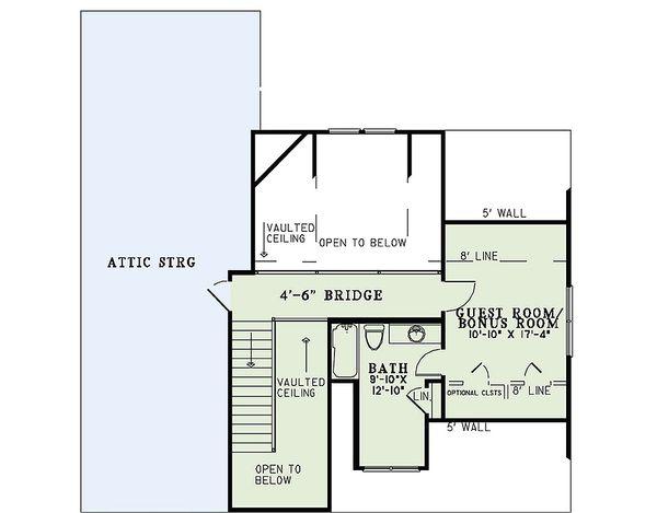 Craftsman Floor Plan - Upper Floor Plan #17-2475