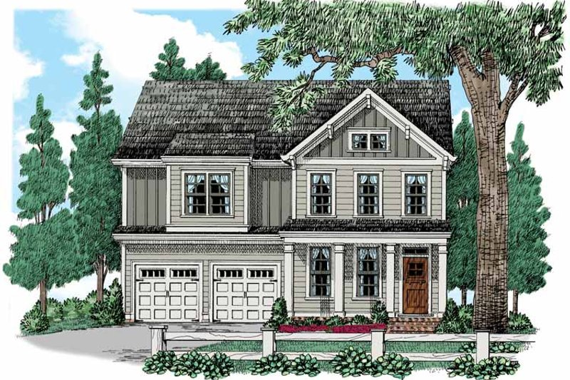 House Plan Design - Country Exterior - Front Elevation Plan #927-941