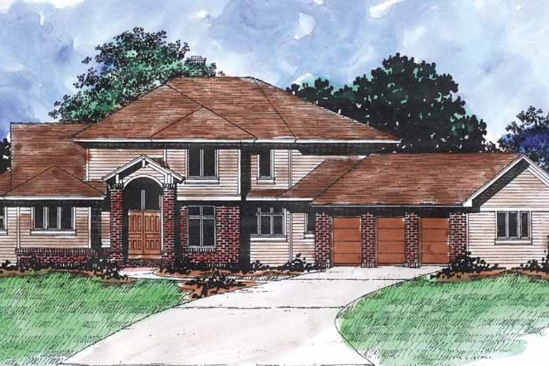 Traditional Exterior - Front Elevation Plan #320-887 - Houseplans.com
