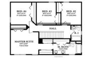 Prairie Style House Plan - 4 Beds 2.5 Baths 1810 Sq/Ft Plan #1058-22 Floor Plan - Upper Floor Plan