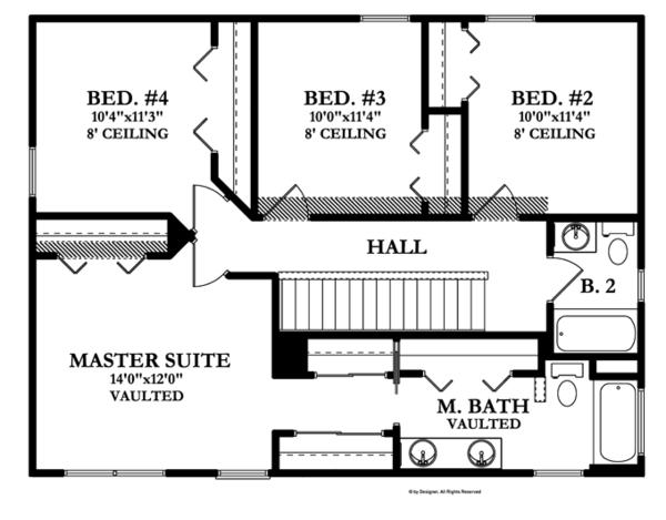 House Plan Design - Prairie Floor Plan - Upper Floor Plan #1058-22