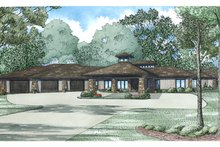 Home Plan - Contemporary Exterior - Front Elevation Plan #17-3390