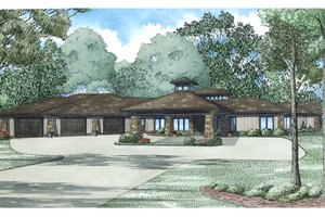 Dream House Plan - Contemporary Exterior - Front Elevation Plan #17-3390