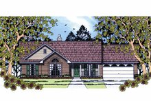 House Plan Design - Country Exterior - Front Elevation Plan #42-588