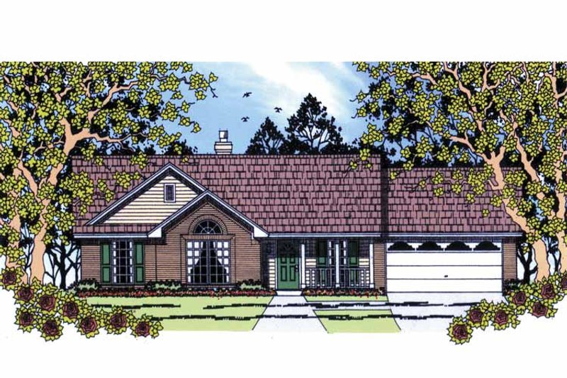Country Exterior - Front Elevation Plan #42-588 - Houseplans.com