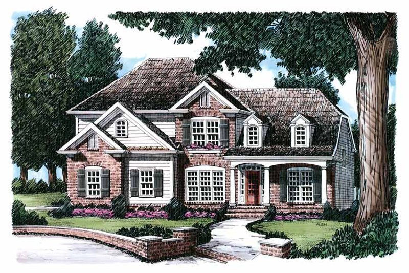 Country Exterior - Front Elevation Plan #927-602