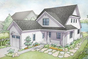 Dream House Plan - Traditional Exterior - Front Elevation Plan #928-286