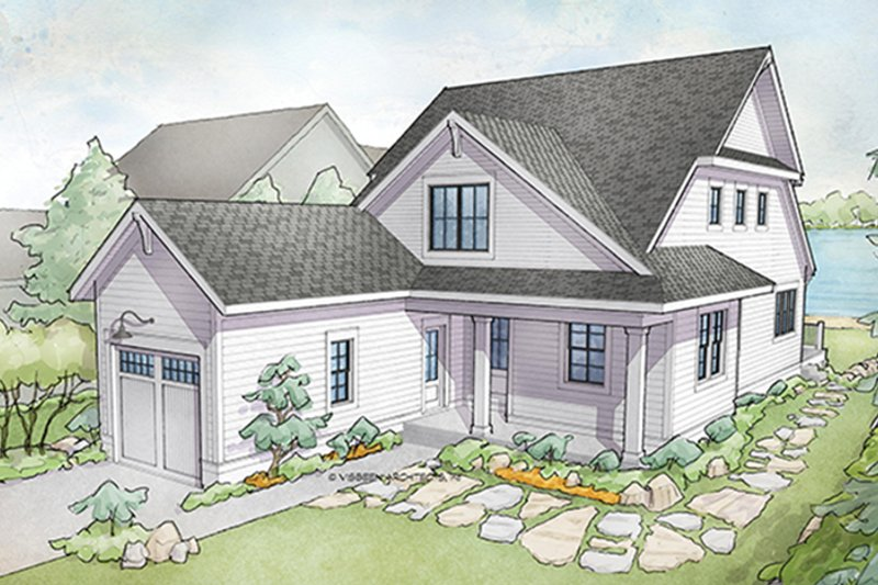 Architectural House Design - Traditional Exterior - Front Elevation Plan #928-286