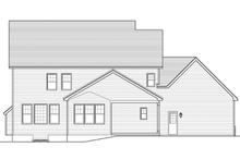 Colonial Exterior - Rear Elevation Plan #1010-63