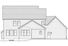 Architectural House Design - Colonial Exterior - Rear Elevation Plan #1010-63