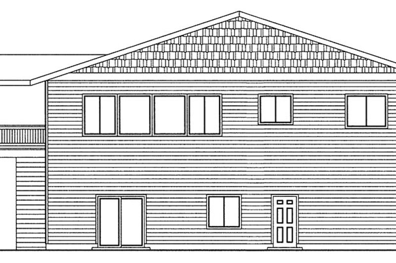 Traditional Exterior - Rear Elevation Plan #117-867 - Houseplans.com