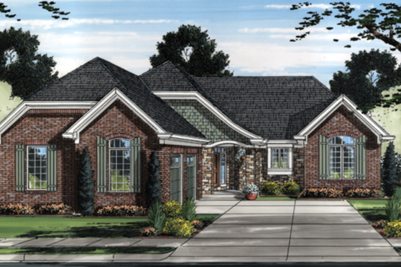 European Exterior - Front Elevation Plan #46-833 - Houseplans.com
