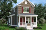 Traditional Style House Plan - 3 Beds 2 Baths 1400 Sq/Ft Plan #419-232 Exterior - Front Elevation