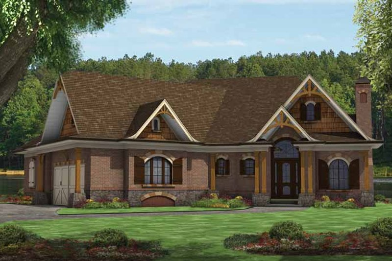 Craftsman Exterior - Front Elevation Plan #54-366