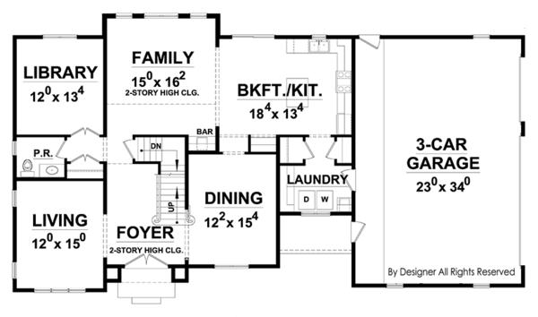 European Floor Plan - Main Floor Plan Plan #20-2247