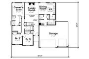 Ranch Style House Plan - 3 Beds 2.5 Baths 1750 Sq/Ft Plan #20-2294 Floor Plan - Main Floor Plan