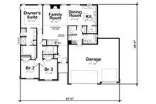 Ranch Floor Plan - Main Floor Plan Plan #20-2294