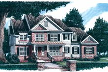 Country Exterior - Front Elevation Plan #927-600