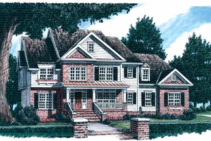 Country Exterior - Front Elevation Plan #927-600 - Houseplans.com