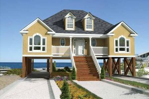 Elevated, Stilt, Piling/Pier House Plans | BuilderHousePlans on raised acadian home plans, acadian style cabin plans, raised creole cottage plans, cottage house plans, acadian exterior home colors, simple acadian house plans, acadian style house plans, acadian homes on slabs,