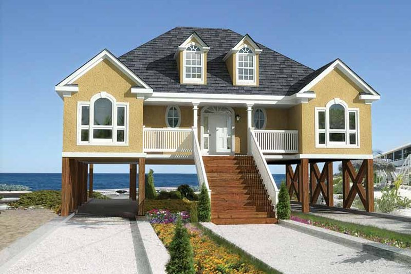 Country Exterior - Front Elevation Plan #37-244 - Houseplans.com