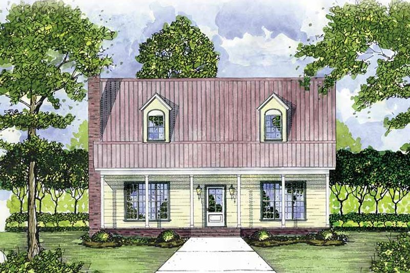 Country Exterior - Front Elevation Plan #36-515 - Houseplans.com