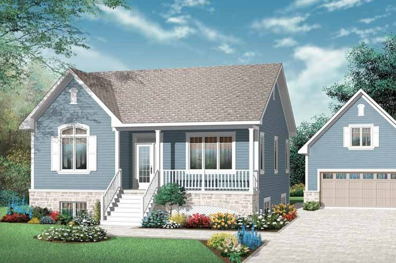 Country Exterior - Front Elevation Plan #23-2429 - Houseplans.com