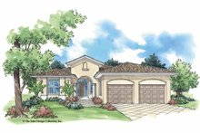 Home Plan - Mediterranean Exterior - Front Elevation Plan #930-388