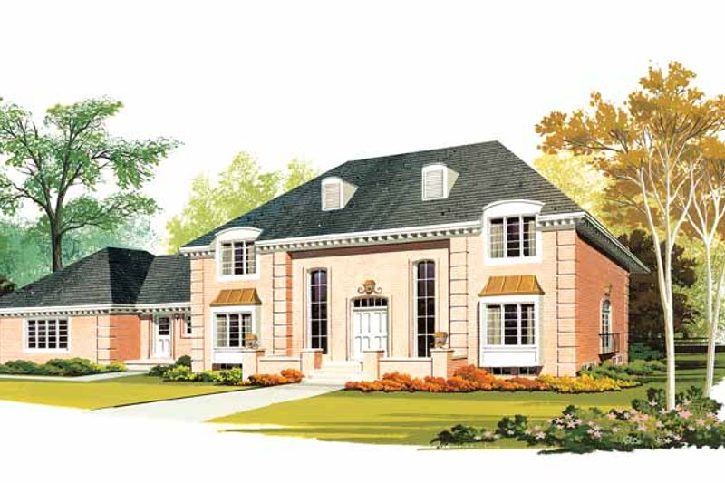House Blueprint - Country Exterior - Front Elevation Plan #72-646