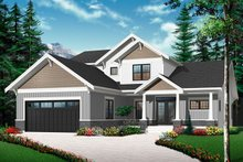 Architectural House Design - Traditional Exterior - Front Elevation Plan #23-2548