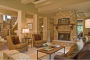 European Style House Plan - 4 Beds 3.5 Baths 4347 Sq/Ft Plan #928-178 Interior - Family Room