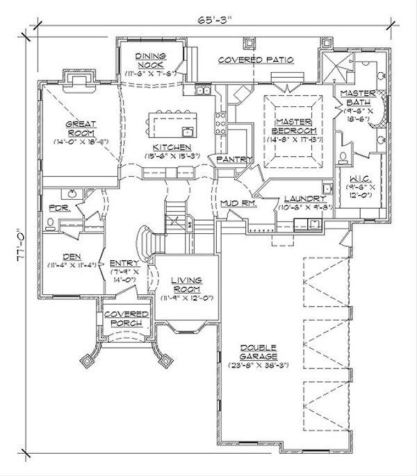 House Plan Design - European Floor Plan - Main Floor Plan #5-467