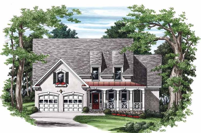 Country Exterior - Front Elevation Plan #927-473