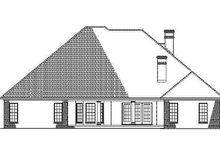 House Plan Design - Country Exterior - Rear Elevation Plan #17-2682