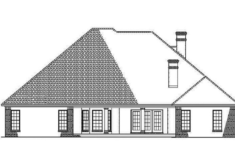 Country Exterior - Rear Elevation Plan #17-2682 - Houseplans.com