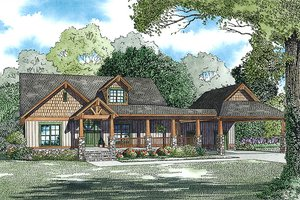 Craftsman Exterior - Front Elevation Plan #17-2475