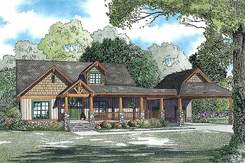 Home Plan - Craftsman Exterior - Front Elevation Plan #17-2475