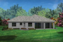Contemporary Exterior - Rear Elevation Plan #930-450