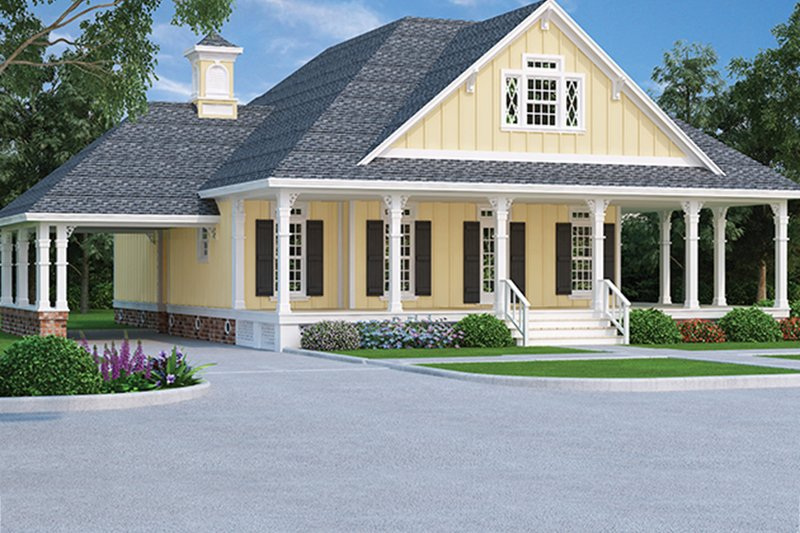 Architectural House Design - Traditional Exterior - Front Elevation Plan #45-569