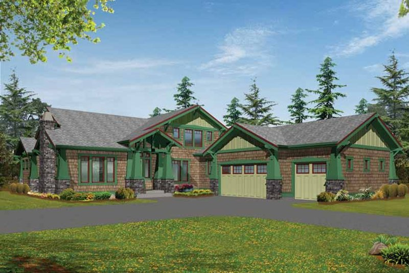 Craftsman Exterior - Front Elevation Plan #132-239 - Houseplans.com