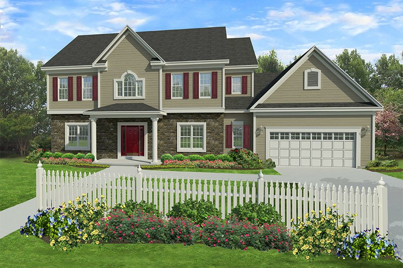 Traditional Exterior - Front Elevation Plan #1010-131 - Houseplans.com