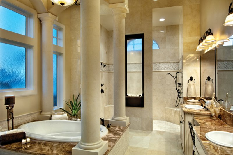 Mediterranean Interior - Master Bathroom Plan #930-442 - Houseplans.com