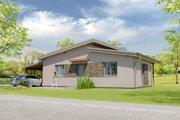 Modern Style House Plan - 3 Beds 1 Baths 902 Sq/Ft Plan #538-17 Exterior - Rear Elevation