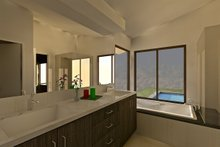 Ranch Interior - Master Bathroom Plan #489-1