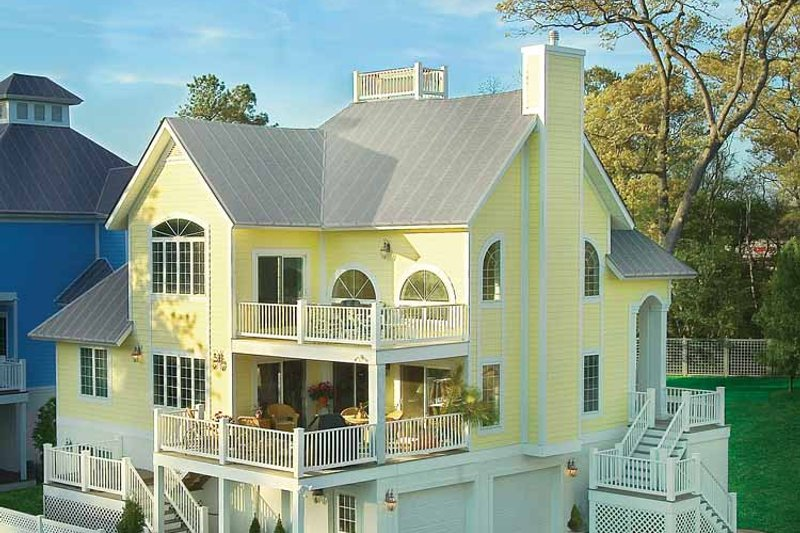 Traditional Exterior - Rear Elevation Plan #930-156 - Houseplans.com